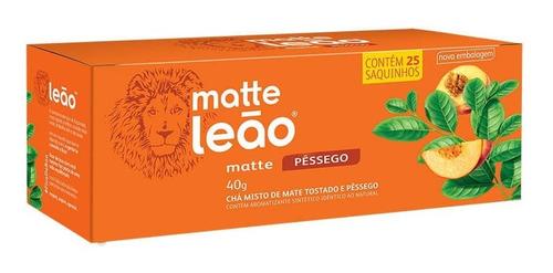 Chá Leão Matte Com Pêssego - 25 Saches