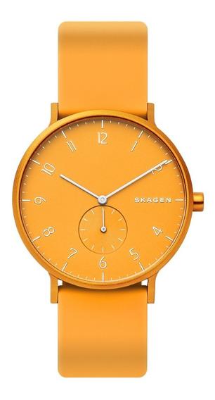 Reloj Unisex Skagen Aaren Kulor Skw6510 Color Amarillo