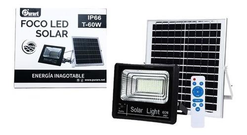 Foco Led Panel Solar 60w Independiente Con Control Remoto