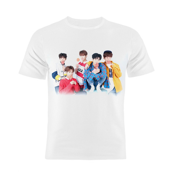 Camiseta Manga Curta Kpop Imfact Coreanos