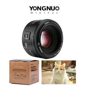 Lente Yongnuo 50mm Para Canon Ef F/1.8 Yn50mm Autofoco