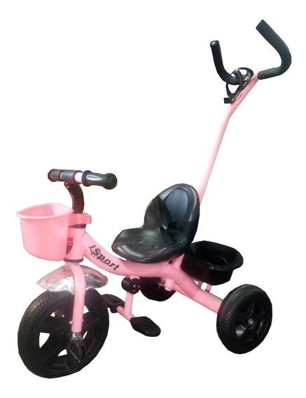 Triciclo Con Manija Direccional Reforzado Bebe Niños 008