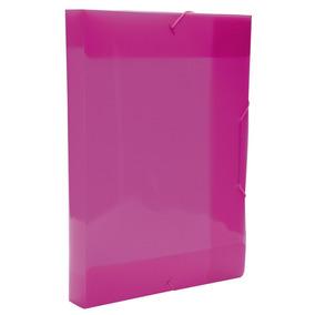 Pasta Aba Escolar Elastico Oficio 4cm Rosa Pink