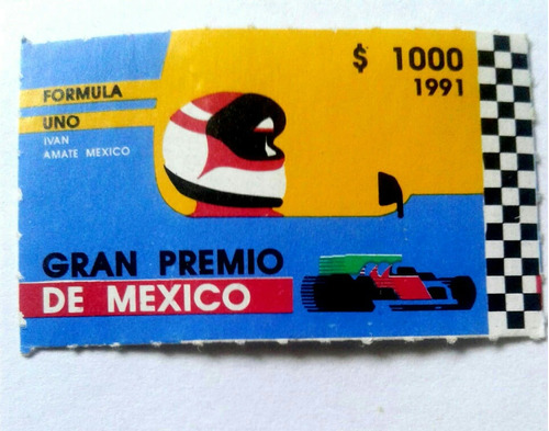 Imagen 1 de 2 de Timbre Postal Gran Premio De Mexico 1991