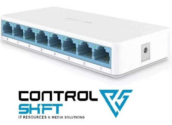 Switch 8 Puertos Ms108 10/100 Mbps Controlshift