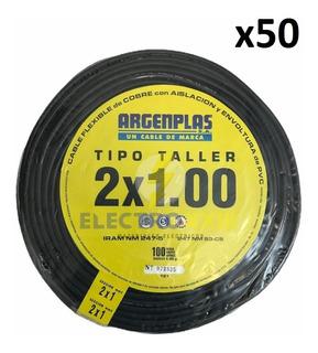 Rollo De Cable Tipo Taller 2x1 50 Mts Argenplas Normalizado