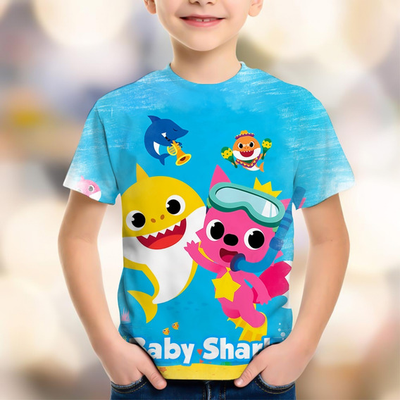 Body Camiseta Infantil Personaliza Baby Shark Doo Tubarão