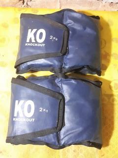 Tornozeleiras Caneleiras De Peso Para Exercícios Fisicos 2kg
