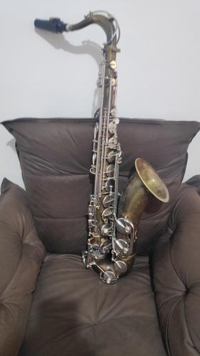 Saxofone Sib Tenor Shelter Vintage Completo Revisado  -