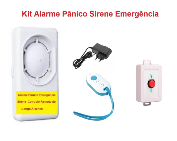 Alarme Pânico Emergência Sirene Controle Remoto
