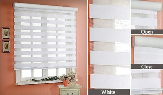 Persianas Sheer Elegance $598 M2 Color Blanco Facia Forrada
