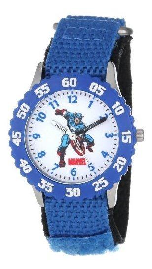 Marvel Boys Captain America Blue Time Teacher - Reloj De Pul