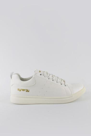 Zapatos Synergy Nubik Blancos Kf734