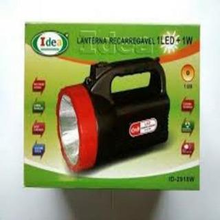 Lanterna Recarregável 1 Led + 1w