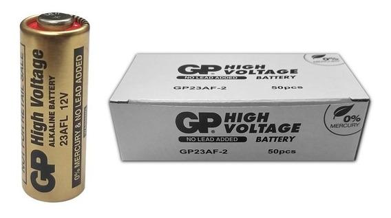 Pilha Gp 12v A23 Controle Portão Alarme Caixa 50 Pilhas
