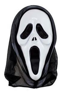 Máscara Do Pânico Plástico Capuz Terror Fantasia Carnaval