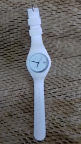 Relógio De Pulso Branco Silicone - Cod. 00339 Unidade