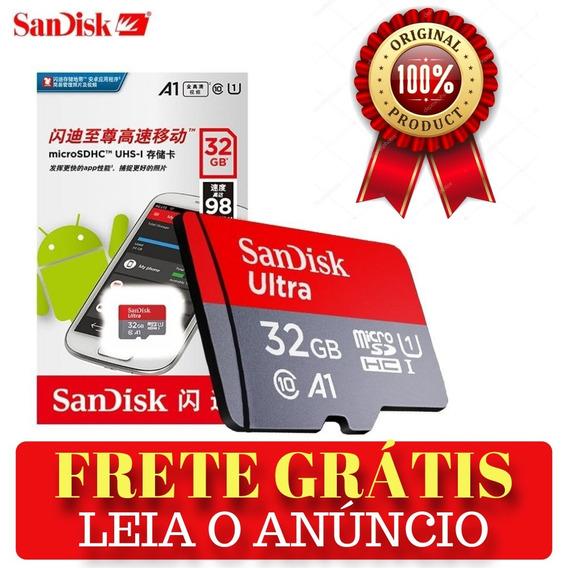 Cartão De Memória Sandisk 32gb Smartphone Sdhc C10 A1 98mb/s