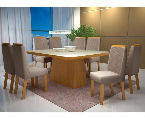 Mesa Malta Com 8 Cadeiras Vogue - Bom Pastor