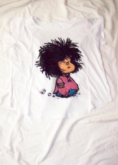 Aurojul-remera C/ Dibujo Mafalda En Delantera-nva-t.14