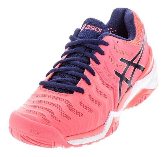 Zapatillas De Tenis Asics Resolution 7 Pink All Court Mujer