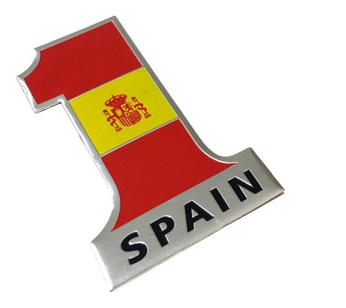 Emblema Espanha Bandeira 1 - Autoadesivo Alumínio