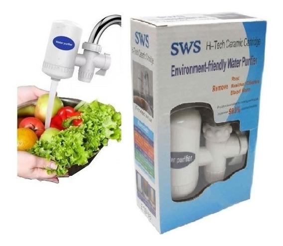 Purificador De Agua Filtro Cerámico Carbon P/ Canilla C/ Env