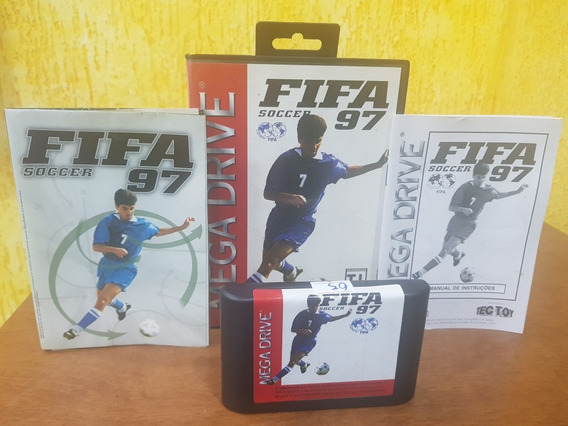 Fifa 97 Usada Original Tecy Toy Manual Estojo Mega Drive.