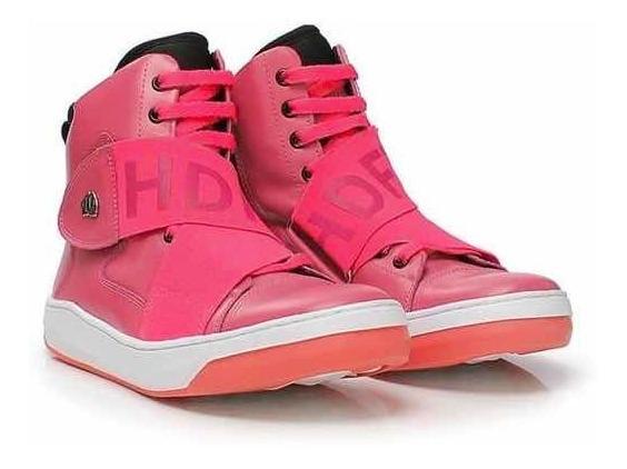 Tênis Hardcore Footwear Botinha Treino- Sneaker Couro Fitnes