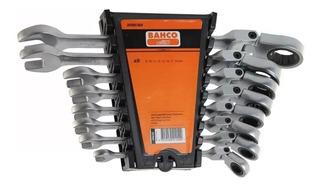 Set Llave Combinada Articulada Crique Bahco 8 Piezas Flexible Con Estuche Para Colgar