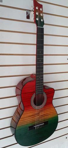 Guitarra Acústica +método De Aprendizaje + Púa+ Envío Gratis