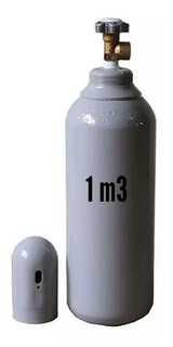 Cilindro De Gás Nitrogênio 1m3 (vazio)- 7lts Novo