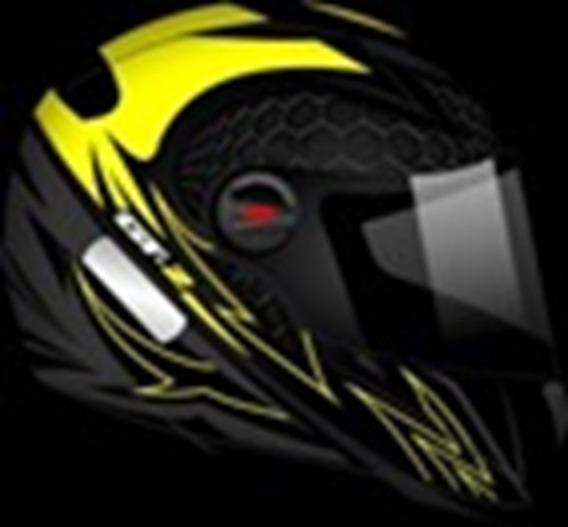 Capacete Gt-2 Preto Fosco-amarelo Neon Tamanho 58
