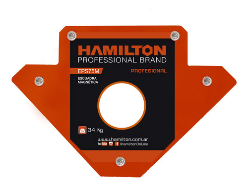 Escuadra Magnetica Soporte P/ Soldar 34kg Hamilton Eps75m