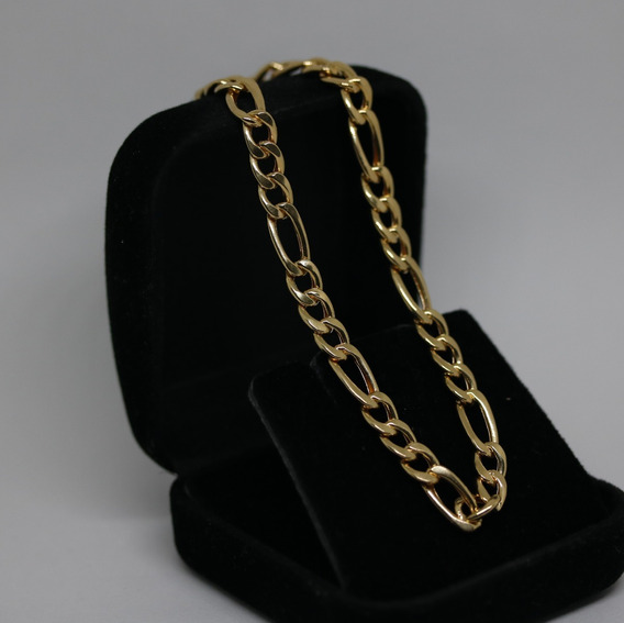 Pulseira Grumet 3x1 De Ouro 18k 750 22 Cm