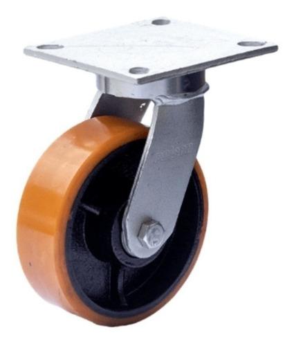 Imagem 1 de 3 de Roda Rodízio Giratório Para Carreta Lancha Jet 8x2 Até 900kg