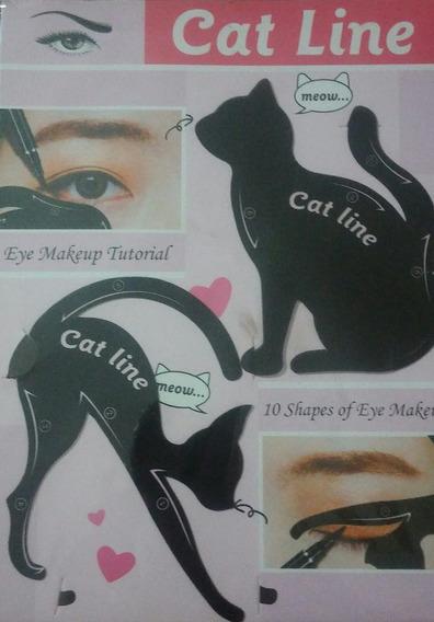 Stencil Para Delineados De Ojos Cat Line Gatito