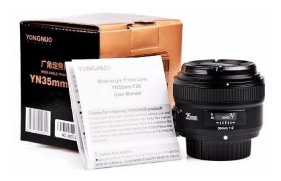 Lente Yongnuo 35mm F/2.0 Para Nikon Autofoco Yn35mm F2n