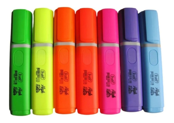 Pack X5 Resaltadores Trabi High Texter Fluo