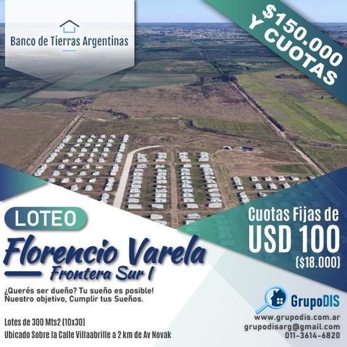 Imagen 1 de 6 de Financiados 100% Lotes F. Varela