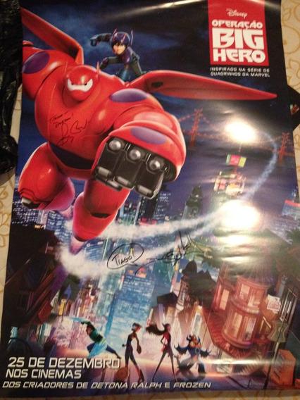 Big Hero 6 Pôster Autografado Diretor E Produtor Ccxp 2014