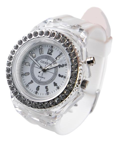 Reloj Con Luces Led Flash Rgb Análogo Unisex