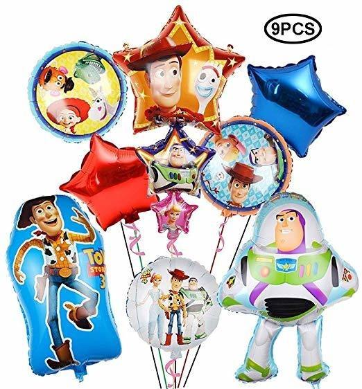 Suministros 9pcs Fiesta De Cumpleaños Globos Toy Story Para