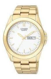Relógio Citizen Bf0582-51a Dourado Masculino