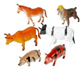 6 Animal Borracha Fazenda Vaca Bode Jegue Porco Cão