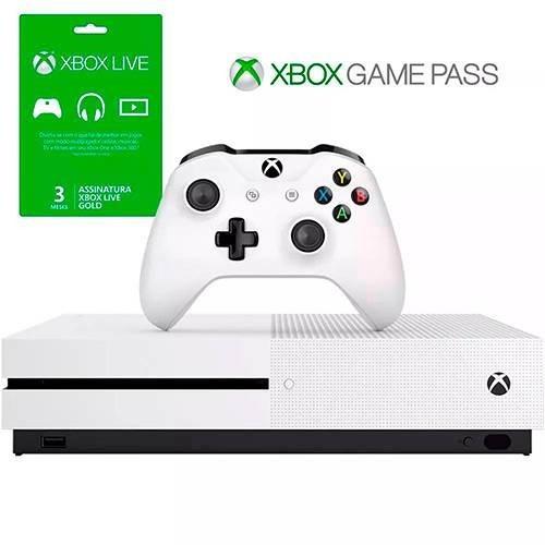 Console Xbox One S 500gb + 3 Meses De Live Gold + 3 Meses