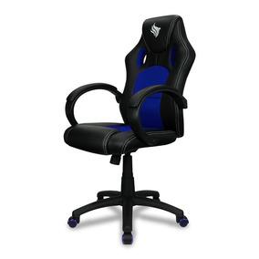 Cadeira Gamer Pichau Gaming Danzig Azul Reclinável C/ Ajuste