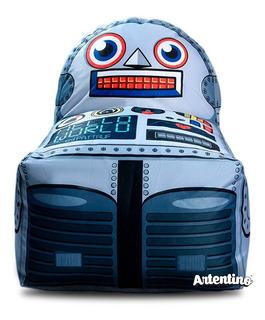 Puff Fiaca Robot Regalo Original Nene Deco Día Del Niño