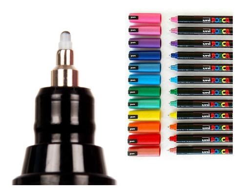 Imagen 1 de 7 de Marcador Uni Posca Pc 1mr Todos Los Colores!!! Barrio Norte.