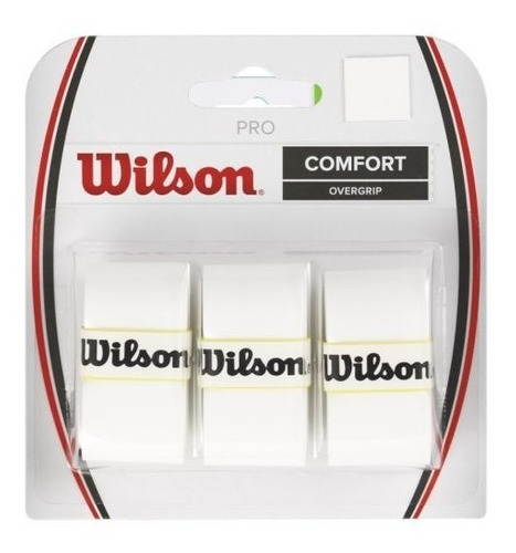 Imagem 1 de 1 de Overgrip Wilson Pro Comfort Pack C/3 Un. Branco- R. Federer